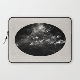 God's Window - Black And White Space Painting Laptop Sleeve
