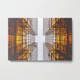 Warm Building Metal Print