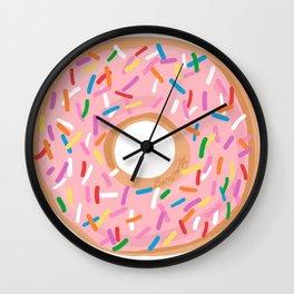Pink Glaze Doughnut Wall Clock