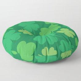 Lucky 4 Leaf Clover Pattern Floor Pillow