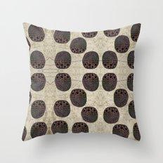 Polka Scarab Throw Pillow