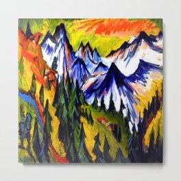 Ernst Ludwig Kirchner Mountain Top Metal Print