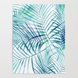 Tropical Palm Pattern Poster