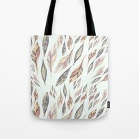 feathers Tote Bags featuring Feathers by Vasare Nar