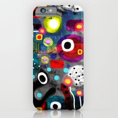 Abstract Grungy Distressed Art Dark Polka Dots Slim Case iPhone 6s