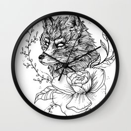 Quit Foxing Around Wall Clock