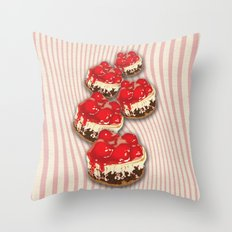 Cherry Cheesecake Throw Pillow