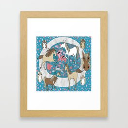 All the Pretty Horses Framed Art Print