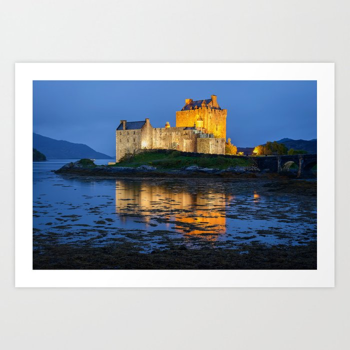 EILEAN DONAN CASTLE SCOTLAND NIGHT PHOTOGRAPHY Art Print