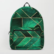 Abstract Nature - Emerald Green Backpack