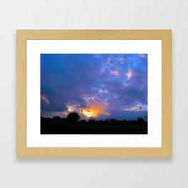 Sunset from my house 5 Framed Art Print