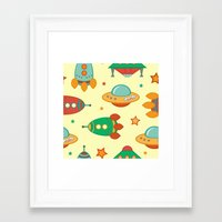 outer space Framed Art Prints featuring Outer space by olillia