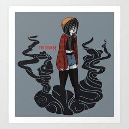 The Grunge Art Print