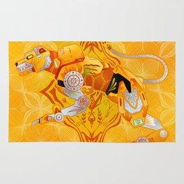 Yellow Batik Lion Rug
