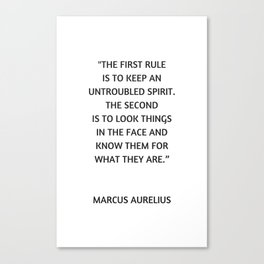 Stoic Philosophy Quote - Untroubled Spirit Canvas Print