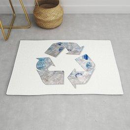 Recycle Plastic Bottles Symbol Rug