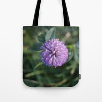 clover Tote Bags featuring Clover by Bud M