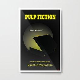 Pulp Fiction minimalist movie poster Metal Print