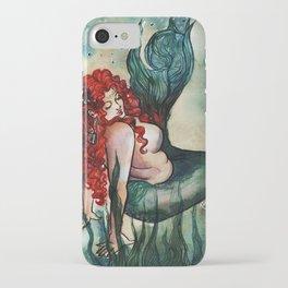 Plus Size Green Mermaid iPhone Case