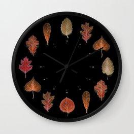 Autmunal Cartography BLK Wall Clock