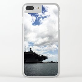Pearl Harbor Aircraft Carrier Silhouette Clear iPhone Case