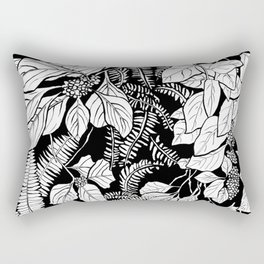 Beautyberry Pattern in Black and White Rectangular Pillow
