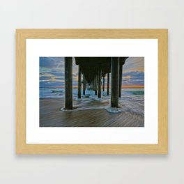 Surf City Sunset 11/29/14    Framed Art Print