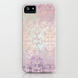 Vintage Ornament Gold and Rose iPhone Case