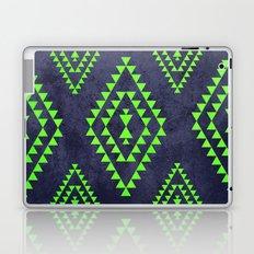 Navy & Lime tribal inspired print Laptop & iPad Skin