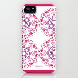 Grace Mandala Tiled - Pink White iPhone Case