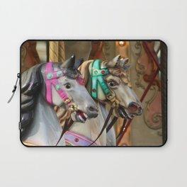 Vintage Carousel Horses Laptop Sleeve