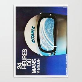 Le Mans 1975, vintage poster, 24hs Le Mans t-shirt Poster