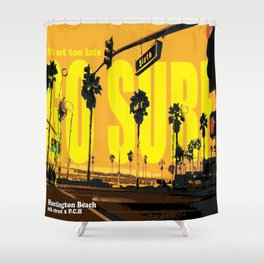 go surf Shower Curtain
