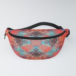 Southwestern Decor Turquoise and Orange Pattern Design Fanny Pack
