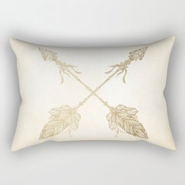 Tribal Arrows Gold on Paper Rectangular Pillow