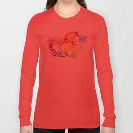 Flower Burst Color High Long Sleeve T-shirt