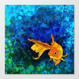 A fish! A fish! A fishy... OH!! Canvas Print