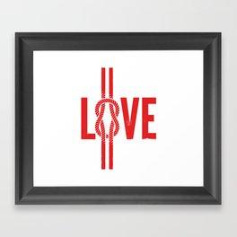 Love Knot (Red) Framed Art Print