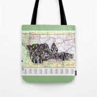 montana Tote Bags featuring Montana by Ursula Rodgers