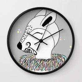 Miss Hata (in colours) Wall Clock