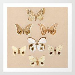 pale moths Art Print