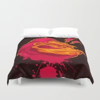 ape Duvet Covers featuring SHREWD APE by BeastWreck
