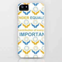 Gender Equality_09 by Victoria Deregus iPhone Case