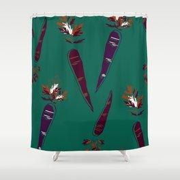Carrot Print  Shower Curtain