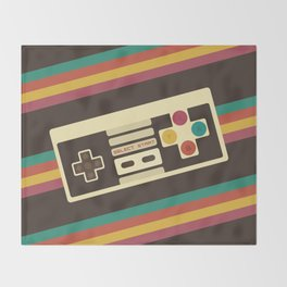 Retro Video Game 2 Throw Blanket