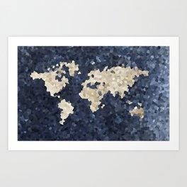 Shattered world Art Print