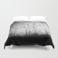 grass Duvet Covers featuring grass by sissidesign