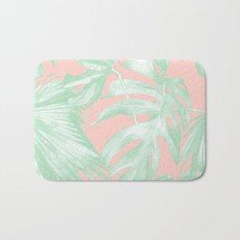 Island Love Seashell Pink + Light Green Bath Mat