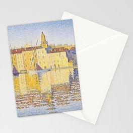 """Paul Signac """"Maisons du Port, Saint-Tropez"""" Stationery Cards"""