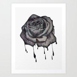 Dripping Rose Art Print